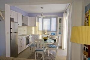 meltemi villas - kitchen area