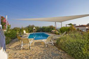 meltemi villas - pool area of corner villa - available on request